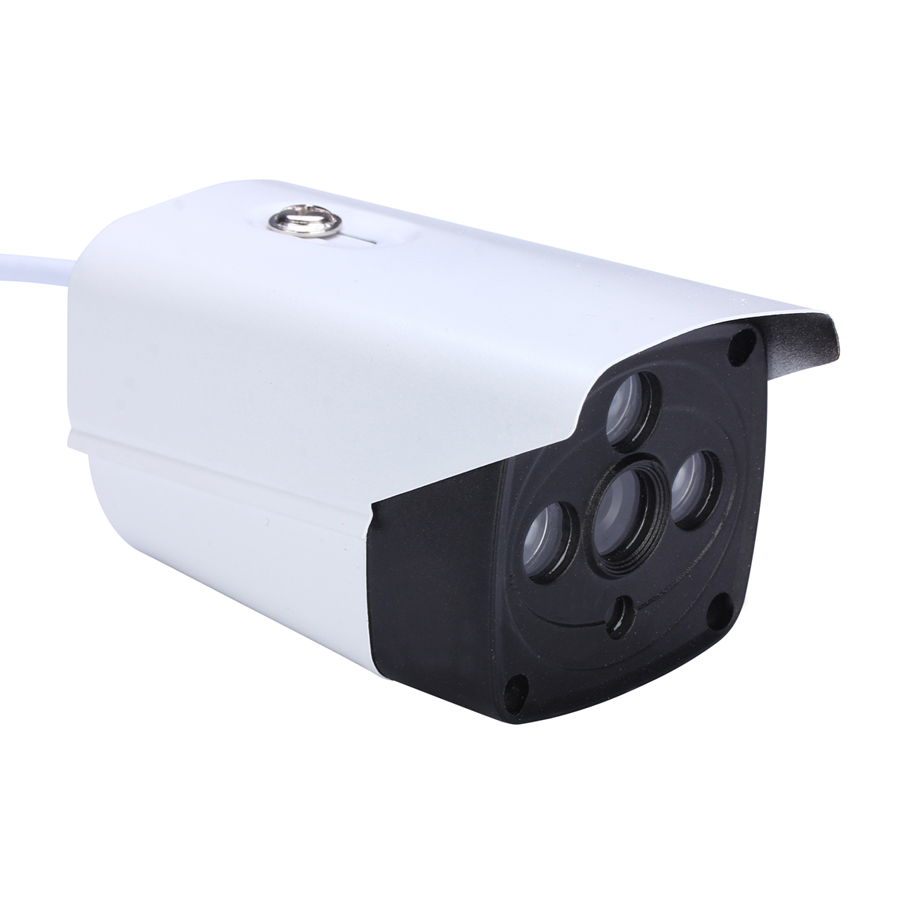 Metal Shell 3 Array LED 960P Indoor/Outdoor Bullet Waterproof 6MM 1080P Lens Bullet AHD Camera 3w 4 6mm lens 2 infrared led lights array surveillance camera black red