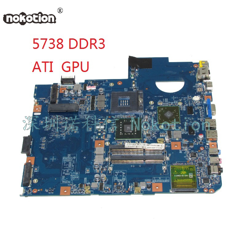NOKOTION JV50-MV DDR3 48.4CG08.011 MBP5601017 MB.P5601.017 For acer aspire 5738 Laptop motherboard PM45 free cpu mbp5601009 mb p5601 009 for acer aspire 5738 laptop motherboard jv50 mv m92 mb 48 4cg07 011 gm45 ddr2 free cpu