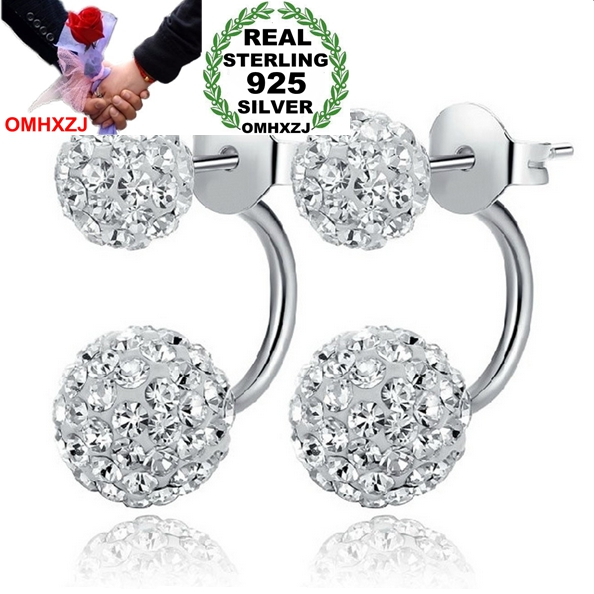 OMHXZJ Wholesale Fashion jewelry AAA zircon Full drill kpop round ball beads star real 925 sterling silver Stud Earrings YS126OMHXZJ Wholesale Fashion jewelry AAA zircon Full drill kpop round ball beads star real 925 sterling silver Stud Earrings YS126