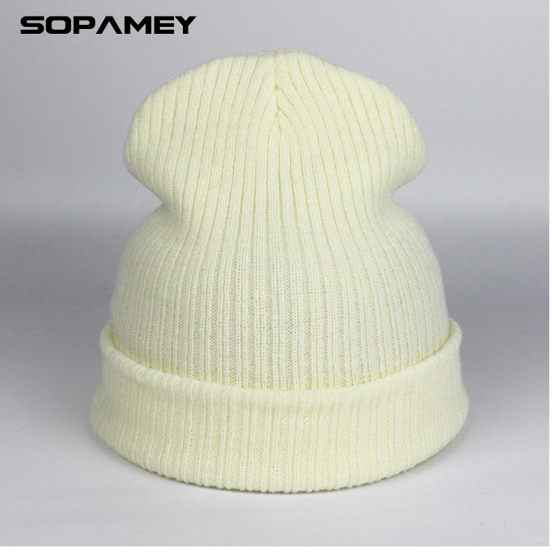 Autumn Beanies For Women Knitted Hip hop Hats for Girls Mix Colors Skullies And Beanies Knit Big Pompom Caps Female Beanie 2017 [jamont] love skullies women bandanas hip hop slouch beanie hats soft stretch beanies q3353