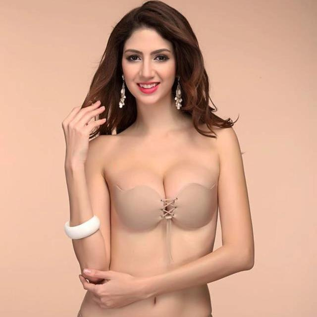 Mooistar #3066D Fashion Women Underwear Sexy Lingerie Solid Silicone Adhesive Gel Push Up Backless Strapless Invisible Chest Bra