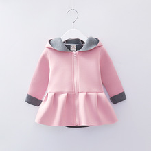 glittery sweet Spring Autumn Girls Clothes Cute Princess Hooded Children Clothing Long Sleeve Kids Girl Coats Casual Jacket