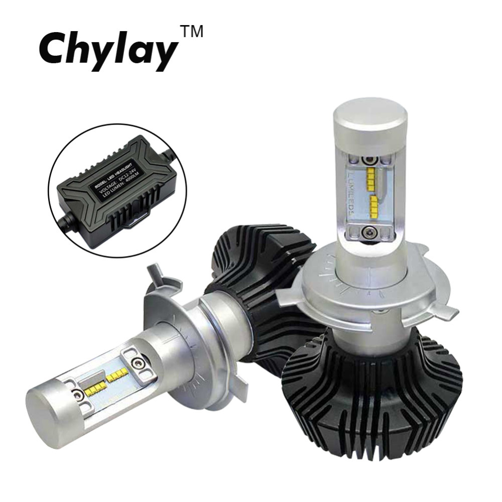 2pcs H4 Led Car Headlight bulb ZES Chips 50W 8000LM Auto Front fog lamp 6500K white light