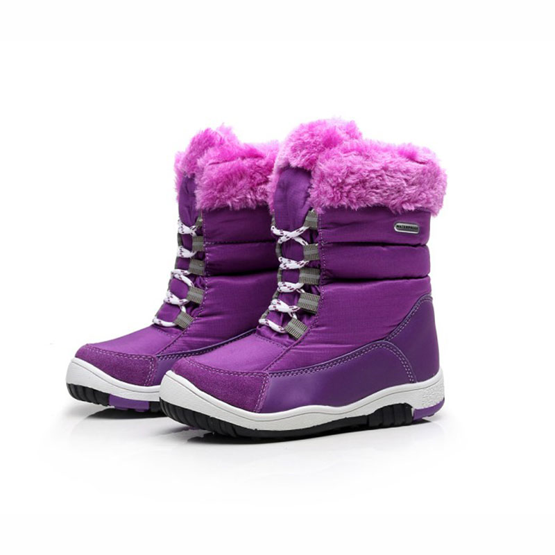 2019 Girls Snow Boots For Kids Winter Shoes Children Kids ...