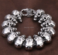 "8.66"" 24.3mm Width New Fashion Ghost chariot Men's Stainless Steel Bracelet motorcycle skull collection jewelry"