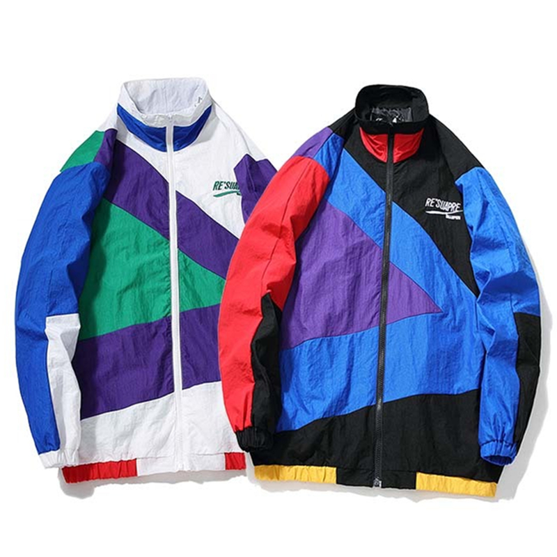 YouthCodes Muti Color Patchwork Splicing Jackets Men Brand Fashion Chinese Style Portable Thin Light Windbreaker Coat Men 2018AW