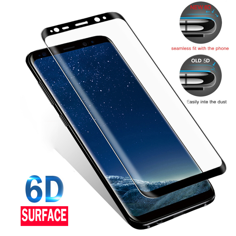 6D Full Curve For Samsung Galaxy S10 S9 S8 Plus Screen Protector For Samsung Note 9 8 S7 S6 Edge+ Protective Film Tempered Glass