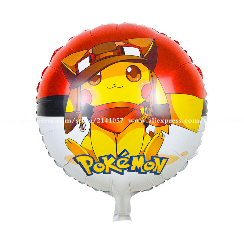 30pcs/lot birthday Balloons helium balloon  pokemon go pikachu Kids Wedding Part