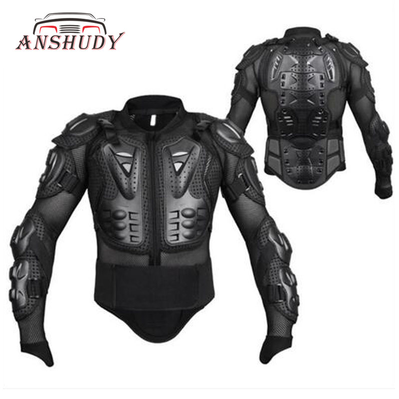 Noir/Rouge Moto Corps Vestes De Protection Retour Armure Équipement de Moto Cross Vêtements Motor Rider Racing Protection Coupe-Vent M-XXXL