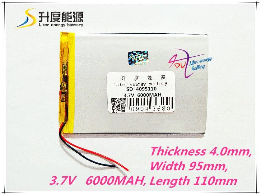 6000 Mah Sonne N70 7 Zoll Tablet Batterie 1 Teile/los 3,7 V Hohe Kapazität Polymer Lithium-batterie 4095110