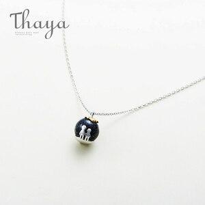 Image 4 - Thaya fête bleu gravier gemme pierre pendentif collier S925 en argent Sterling enfants enfance collier pour les femmes Chic cadeau Unique