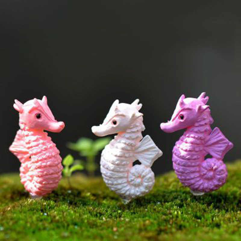 ZOCDOU 1 Piece Australia Sea Horse Pacific Ocean Hippocampus Atlantic Hippocampi Model Statue Crafts Ornament Miniatures Decor
