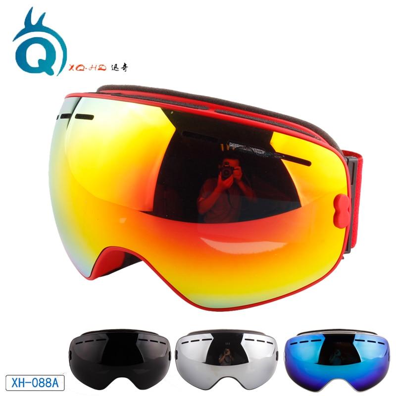 XQHD Ski Goggles UV400 Anti-fog Double Layers Skiing Mask Glasses Men Women Snowboard Motocross Goggles Ski Masks or Eyewear все цены