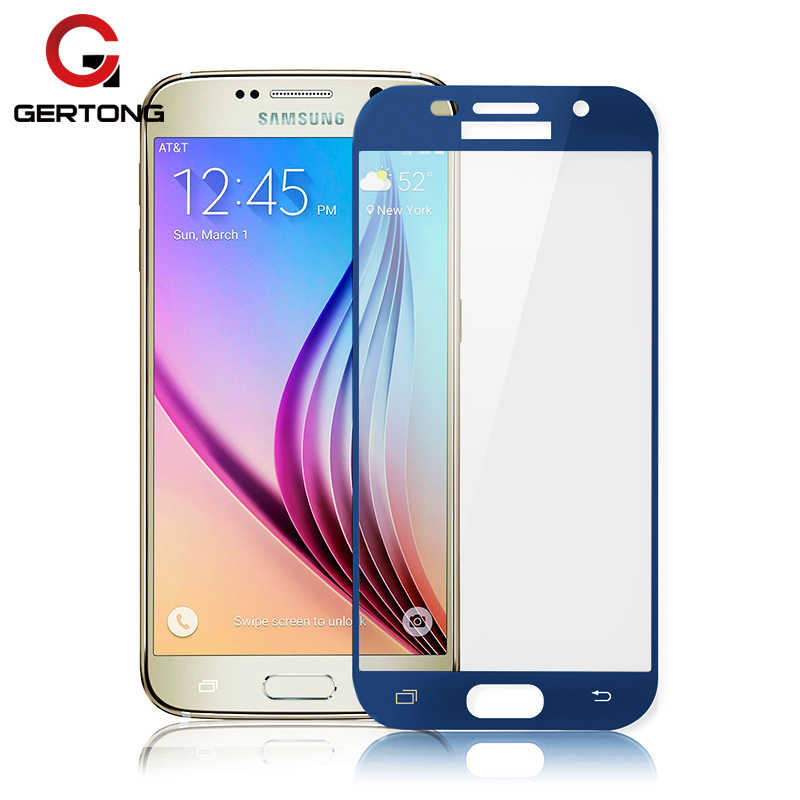 Blue Color Glass For Samsung Galaxy J7 2017 J5 J3 A5 A3 A7 2017 2018 Full Cover Tempered Glass Quality Screen Protector Film