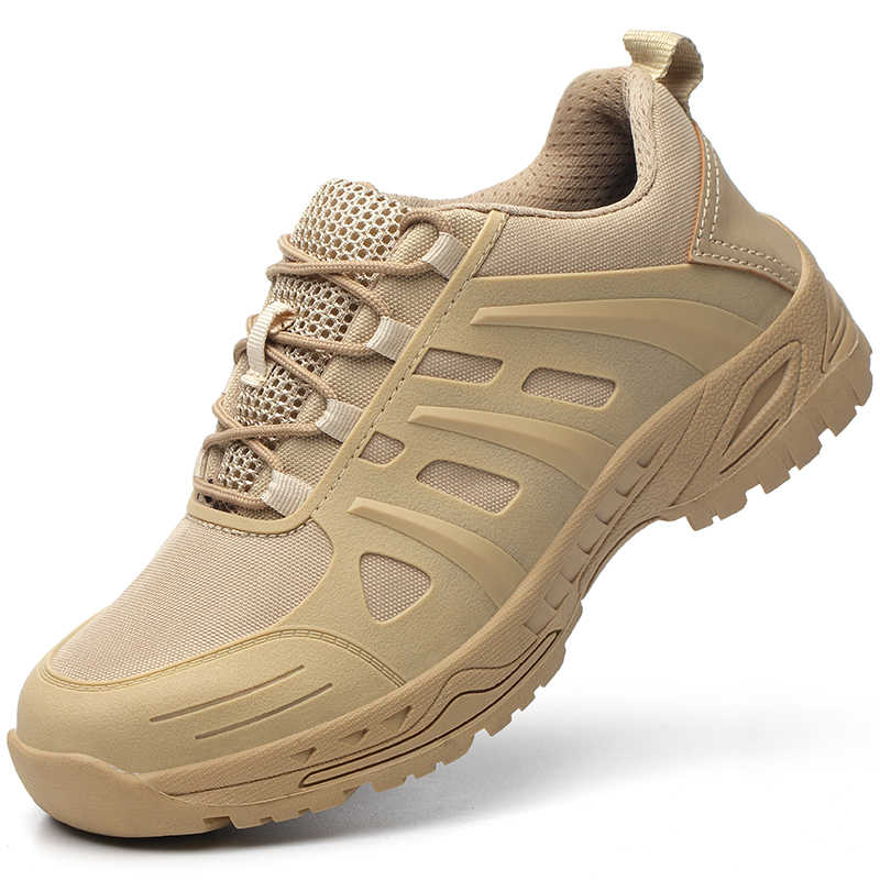 Zomer mannen Nieuwe Desert Stalen Neus Anti Smash Werkschoenen Laarzen Mannen Militaire Combat Leger Punctie Proof Veiligheid Schoenen