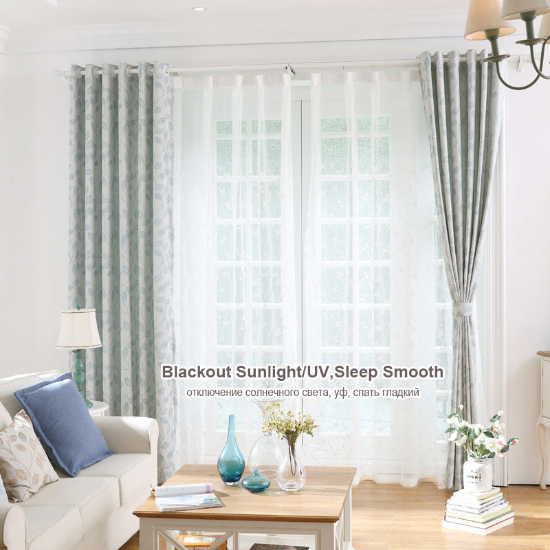 Modern living room curtains blackout country window drapes for Modern drapes window treatment