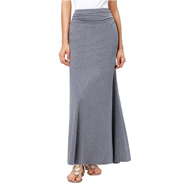 2018 Jupes Jupe Longues Maxi Mode Femmes Vestidos Coton Stretch 4q3A5jRL