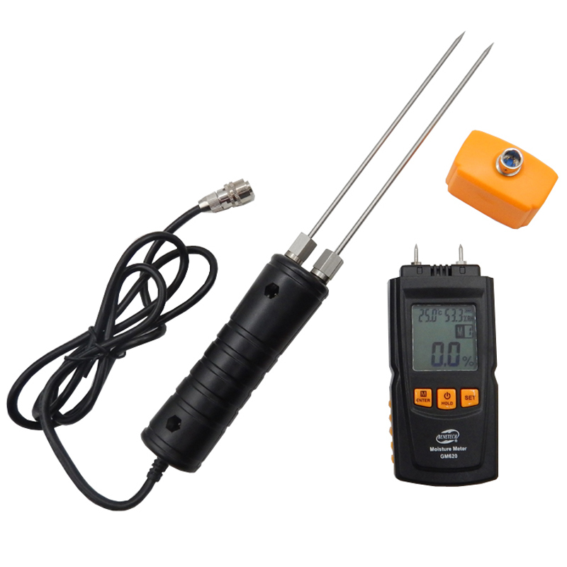Digital LCD Display Wood Moisture Meter 2~70% Humidity Tester Timber Damp Detector portable wood moisture meter GM620 md918 digital 2 2 lcd induction wood moisture tester dark blue black 3 x aaa