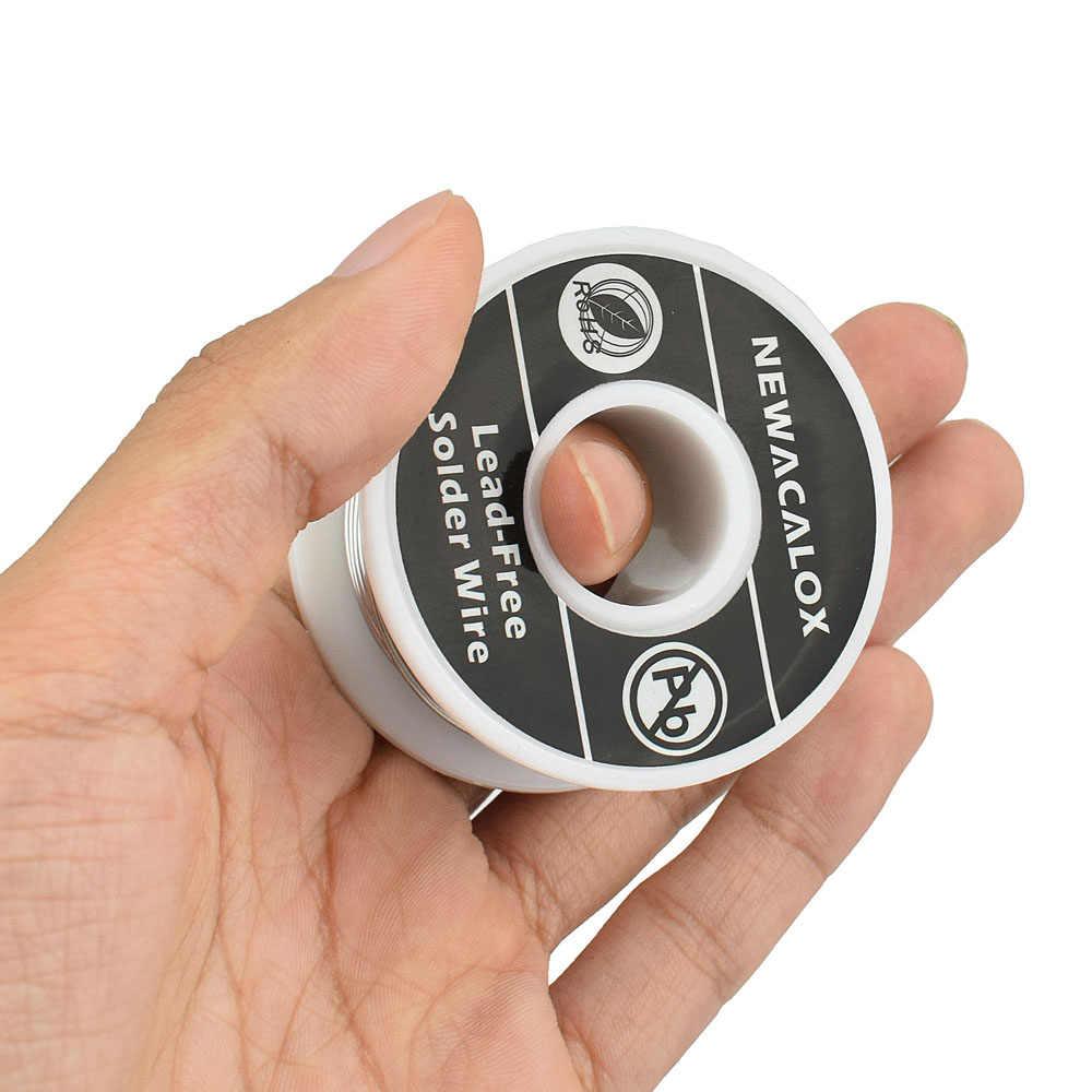 NEWACALOX 2 قطعة/المجموعة 1 مللي متر جديد لحام الحديد بكرة أسلاك 100 جرام/3.5 أوقية القصدير الرصاص خط تدفق 2.0% الفضة لحام سلك 55*29 مللي متر لحام