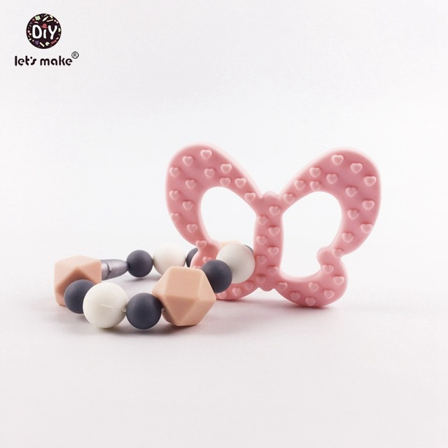 Silicone Teething Ring Trendy Teether Food Grade Safe For New Mommy Breastfeeding Nursing Accessory Baby Teether Bracelet