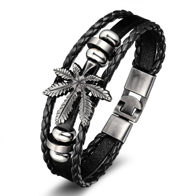 Hanson Leather Bracelet Men...