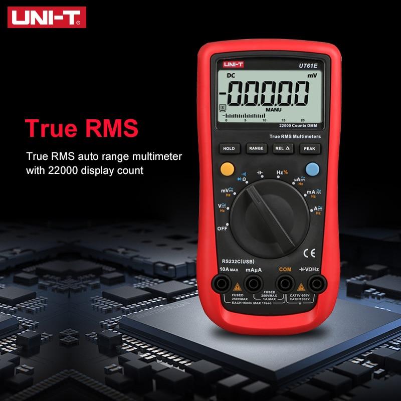 UNI-T UT61E Высокая надежность Цифровой мультиметр PC подключить AC DC Напряжение режим относительного измерения 22000 подсчитывает удержания данны...