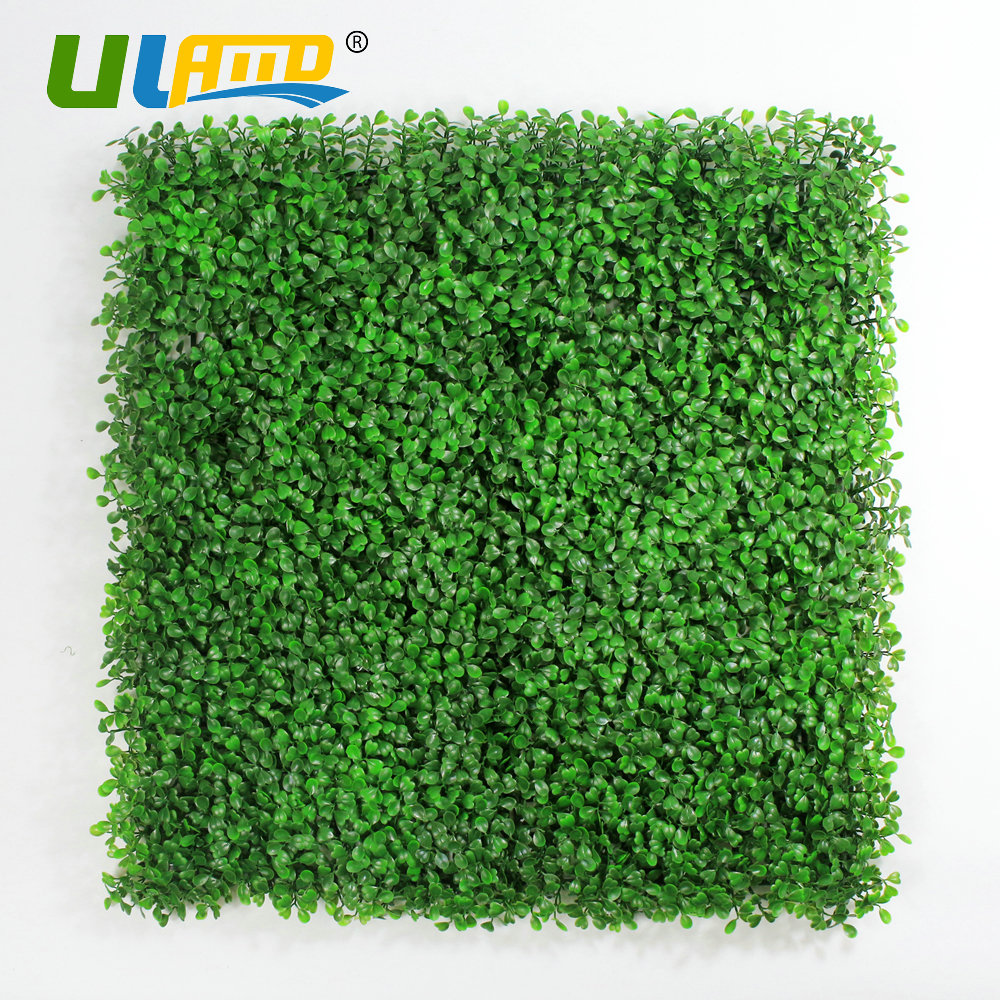 ULAND Artificial Boxwood Hedge 1 Pc 25cmx25cm/pc Panels Plastic Garden Fence  Greenery Wall For