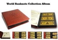 Деньги Альбом для банкнот 150 шт. мира Цветной золото банкноты в набор ПУ кожа банкнот держатели как банкнот коллекция
