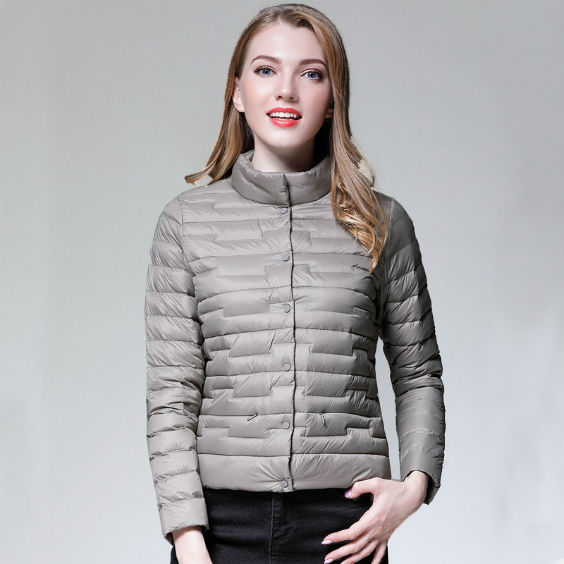 New Designed Winter Women Ultra Light Down Jacket Casual Female Portable Duck Feather Coat Jackets Lightweight