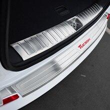 Coche Tronco Decoración Parachoques Retaguardia Cubiertas Interna + Externa Accesorios Para Hyundai Tucson 2015 2016 2017 Car-styling
