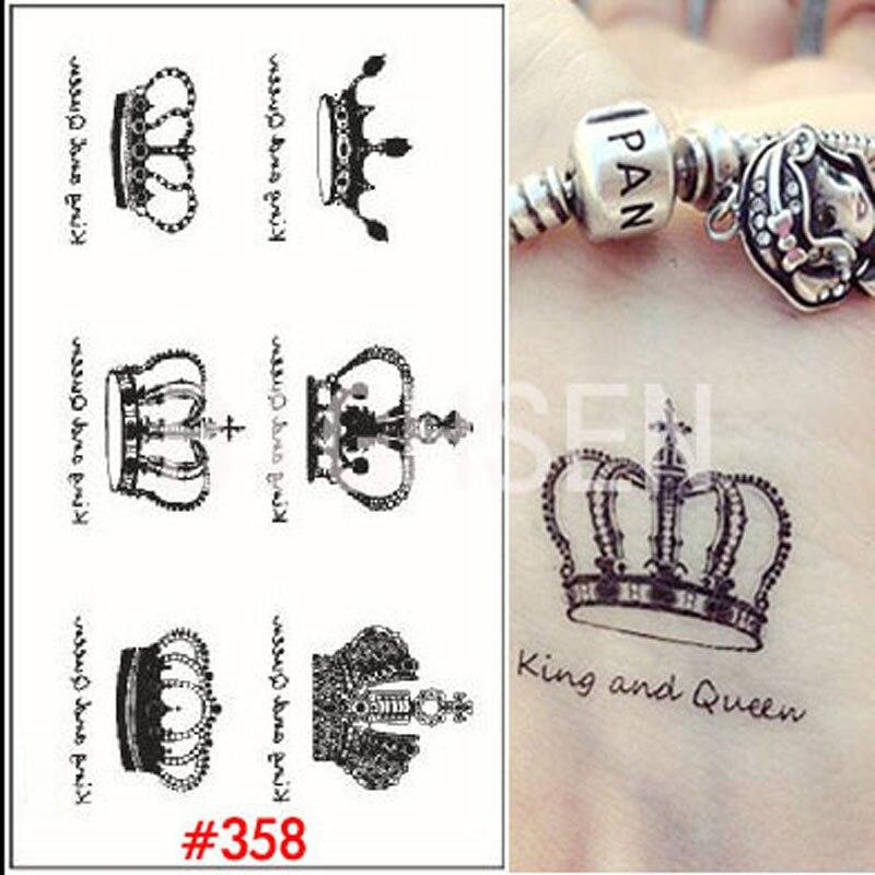 online kaufen gro handel kleine krone tattoos aus china. Black Bedroom Furniture Sets. Home Design Ideas