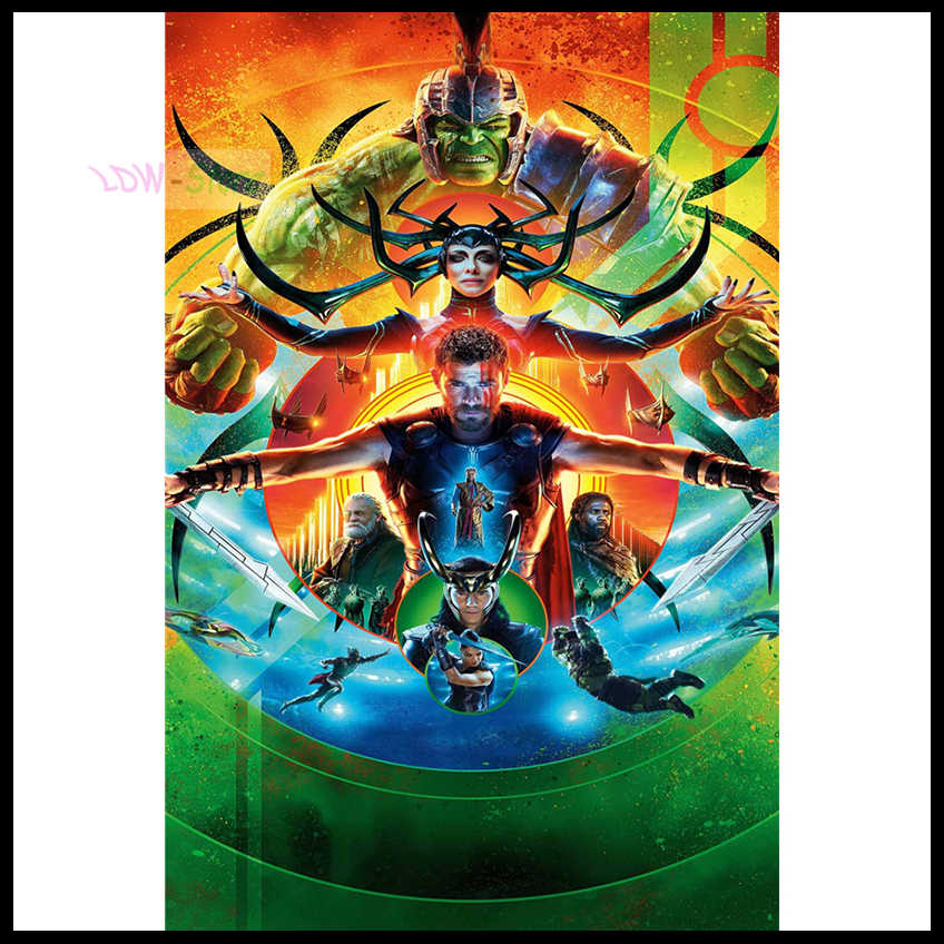 Full Square Drill 5D DIY Diamond Painting New arrival Thor: Ragnarok Poster 3D Embroidery Cross Stitch Mosaic Decor Gift NEW798