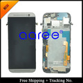 Free Shipping + 100% tested Guarantee For HTC one M8 LCD Screen Display Assembly with frame- Silver/ Grey/Golden