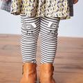 Nuevo 2017 de la Marca de Calidad 100% Algodón de los Bebés del Niño de las Polainas Ropa de los cabritos Niños Polainas de Las Muchachas de Largo Delgado Pantalón Lápiz Niñas Pant