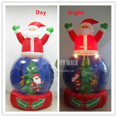 21 m large outdoor inflatable christmas decoration rotary christmas tree snow ball christmas decoration santa claus