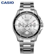 Casio Часы для мужчин's указатель стрелки часов серии multi-function chronograph бизнес повседневное часы для мужчин смотреть MTP-1374D-7A