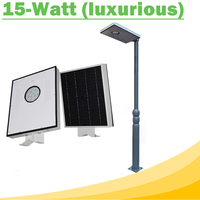 15W All In One LED Solar Street Lights Waterproof Outdoor Easy Installation12V LED Lamp for Solar Home Lighting System Luxurious