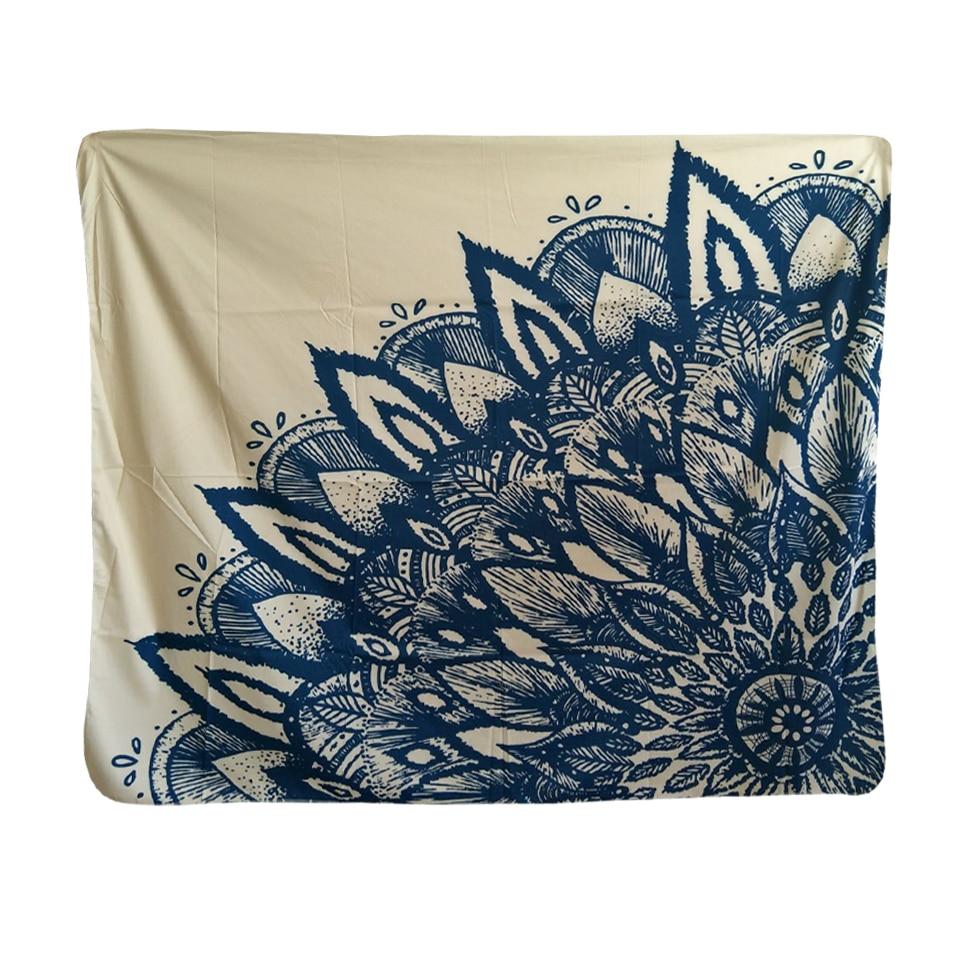 Beautiful Scenic Mandala Paisley Ganesha Buddha Tapestry 148x130cm 58x51inch Polyester Carpet Blanket Art India Thailand