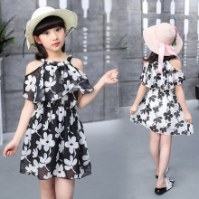 Teenage Girl Dresses Summer 2018 Children's Clothing Kids Flower Dress Chiffon Princess Dresses For Age  7 8 9 10 11 12  Years