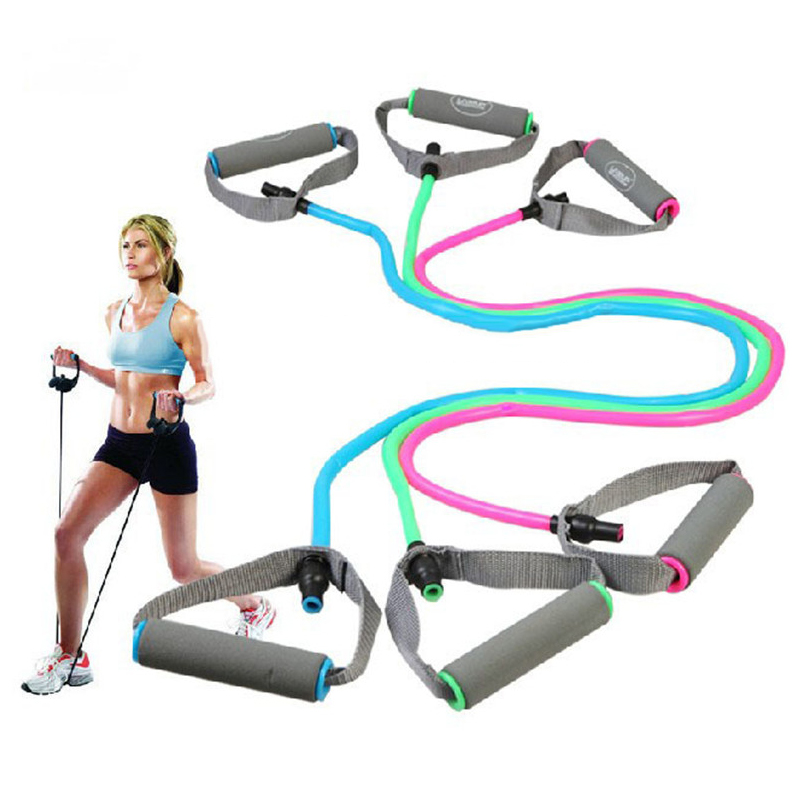 Rubber Exercise Tubing Bands: Latex Training Resistance Bands Fitness Stretch Fitness