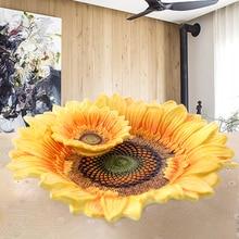 Европейская пасторальная Солнечная цветочная керамическая чаша для фруктов Подсолнух фруктовая чаша многофункциональная фруктовая чаша кофейное украшение стола