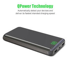 Power Bank 24000mAh Portable Charger Fast Type-C Charger with 2 Input & Output LCD Display with Mirror Surface for Mobile Phones(China)