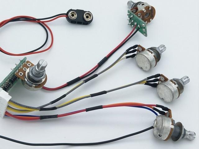 electric bass guitar active pickups guitar wiring harness in guitar rh aliexpress com bass guitar wiring kits Telelcaster Wiring Harness