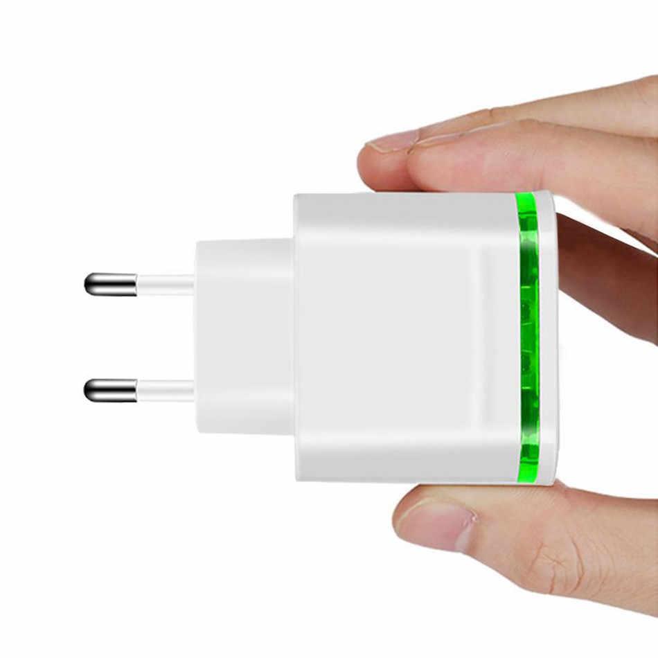 2019 Atas 4 Port USB Charger Adapter 4A Bepergian Biaya Lampu LED Plug Multi Port Hub Charger untuk iPhone iPad samsung Xiaomi Redmi