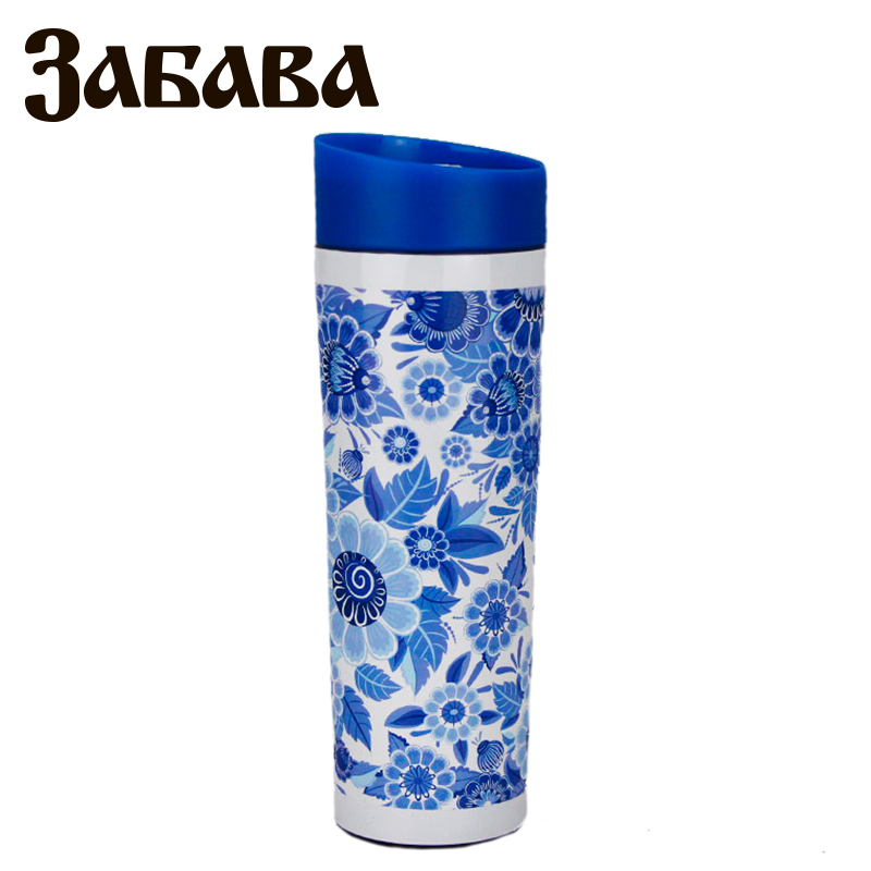 ZABAVA RK-0400M Hot cup 400ml Vacuum Flask Thermose Travel Sports Climb Thermal Pot Insulated Vacuum Bottle Stainless Steel korean penguin vacuum cup water bottle mug coffee tea stainless steel thermos food jar thermal container insulated soup holder