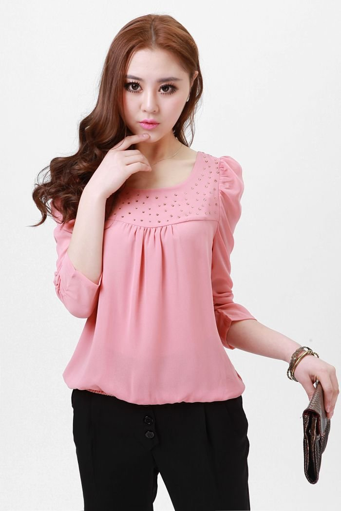 Pink Shirts For Women Photo Album - Reikian