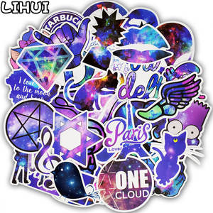 LIHUI 50pcs Anime Stickers for Laptop Skateboard Car