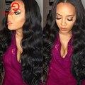 Top 7A Cabelo Humano Dianteira do Laço Peruca Malaio Onda Do Corpo Do Laço Frontal peruca Com Cabelos Do Bebê Cheia Do Laço Perucas de Cabelo Humano Para As Mulheres Negras