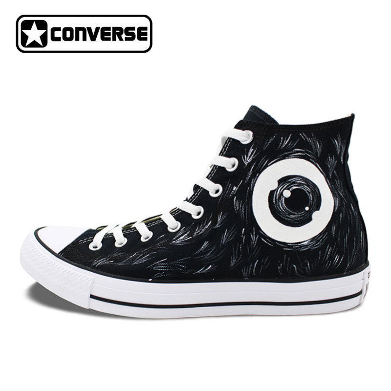 Black Converse Chuck Taylor Canvas Shoes Men Women Mamafaka Design Hand Painted High Top Sneakers Birthday Gift ...