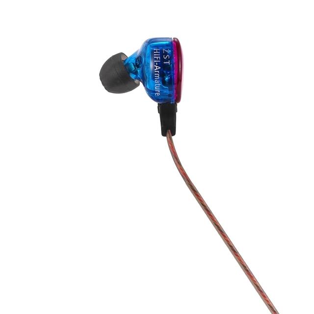 Kz zst colorful wired control en el cable con cancelación de ruido en la oreja los auriculares micrófono incorporado para contestar el teléfono de control de voz